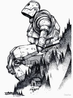 'Iron Giant' Poster by Deefex Cool Drawings, Drawing Sketches, Cool Sketches, Detailed Drawings, Character Art, Character Design, The Iron Giant, Arte Robot, Desenho Tattoo