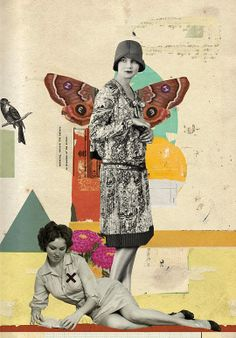 Surreal vintage collage art by Diego Max Collage Foto, Collage Kunst, Art Du Collage, Collage Design, Mixed Media Collage, Digital Collage, Surrealist Collage, Love Collage, Collages