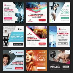 Instagram Banners - 70 Banners | GraphicRiver Social Media Poster, Social Media Branding, Social Media Banner, Social Media Design, Social Media Graphics, Web Design, Web Banner Design, Instagram Promotion, Instagram Banner