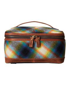 Love this Ombré Plaid Wool Dopp Bag on #zulily! #zulilyfinds