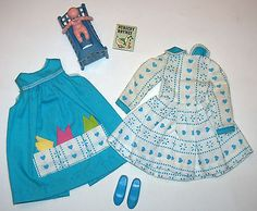 Vintage SKIPPER Doll Let's Play House Outfit #1932 Nursery Rhymes Book 1966