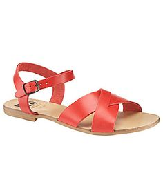 BC Swagger Flat Leather Sandals | Dillards.com $49.00