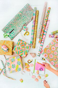 Painting your own wrapping paper