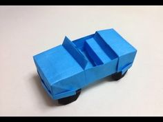 How to Make a origami jeep/car - YouTube