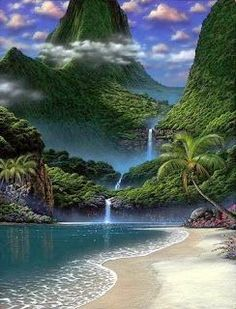 Waterfall Beach   - Explore the World with Travel Nerd Nici, one Country at a Time. http://TravelNerdNici.com