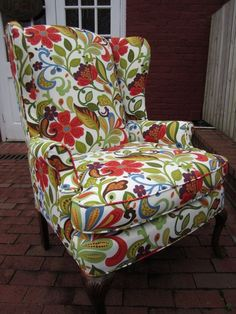 accent chair red red vine via urbanmotifs etsy by angie wingback