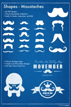 4ab48eedc68b4 Premium Shapes - The Movember Collection ( 4+)