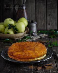 tarta tatin de manzanas Banana French Toast, Waffles, Deserts, Food And Drink, Baking, Breakfast, Home, Cocoa Cookies, Pumpkin Pound Cake