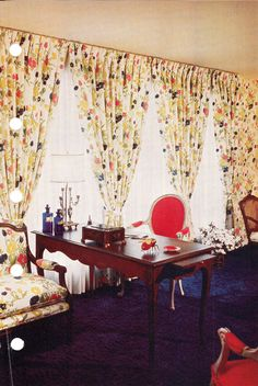 Copyright 1975 Better Homes and Gardens. What beautiful curtains.