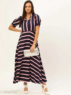 Checkout this latest Dresses Product Name: *Trendy Fashionable Printed Women Dresses VOL.2* Fabric: Crepe Sleeve Length: Short Sleeves Pattern: Printed Multipack: 1 Sizes: S (Bust Size: 36 in, Length Size: 52 in)  M (Bust Size: 38 in, Length Size: 52 in)  L (Bust Size: 40 in, Length Size: 52 in)  XL (Bust Size: 42 in, Length Size: 52 in)  XXL (Bust Size: 44 in, Length Size: 52 in)  Country of Origin: India Easy Returns Available In Case Of Any Issue   Catalog Rating: ★4 (646)  Catalog Name: Fancy Glamorous Women Dresses CatalogID_2292342 C79-SC1025 Code: 793-12027508-2001