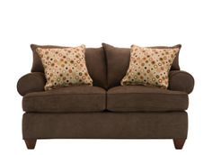 Vegas Microfiber Loveseat.. exactly what my living room needs!... love the matching pillows  #myrfholiday #SweepsEntry