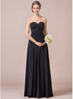 Bridesmaid Dresses - $130.99 - A-Line/Princess Sweetheart Floor-Length Chiffon Bridesmaid Dress With Ruffle  http://www.dressfirst.com/A-Line-Princess-Sweetheart-Floor-Length-Chiffon-Bridesmaid-Dress-With-Ruffle-007056565-g56565