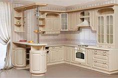 Светлая деревянная кухня массив с барной стойкой Подробнее: http://taburetti.kiev.ua/2016/01/22/svetlaya-derevyannaya-kuhnya-massiv-s-barnoj-stojkoj/ #мебель #кухня