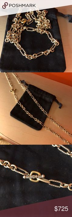 David yurman FIGARO CHAIN NECKLACE Worn a few times!  Bought at Neimans Marcus in Charlotte.  Excellent condition. David Yurman Jewelry Necklaces