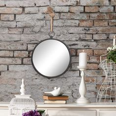 Best farmhouse wall decorations and rustic wall decor you will love. We absolutely love country themed wall decorations including farmhouse wall art, canvas art, mirrors, and more. Farmhouse Mirrors, Rustic Mirrors, Farmhouse Wall Art, Rustic Bathroom Decor, Rustic Wall Decor, Farmhouse Style, Farmhouse Decor, Rope Mirror, Metal Mirror