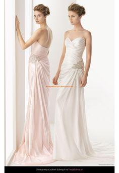Robe de mariage longue en mousseline perles
