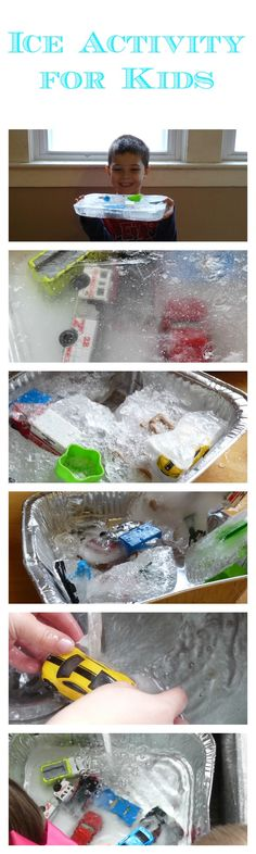 Ice Activity for Kids - great for learning the melting and freezing point, but also just plain fun!