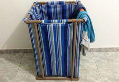 """Confira o nosso passo a passo para fazer um cesto de roupa confeccionado com tubos de PVC para fazer encanamentos. É um material muito resistente e versátil: inúmeras adequações podem ser feitas para adaptá-lo à nossa criatividade. [h2 type=""""..."""