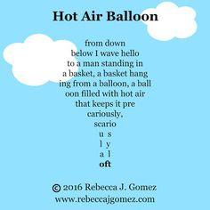 Rebecca J. Gomez: Poetry Week by Week: Concrete Poem writing challenge Concrete Poem Examples, Acrostic Poem For Kids, Free Verse Poems, Shape Poems, English Rhymes, Poetry For Kids, Poetry Lessons, National Poetry Month, Teaching Poetry