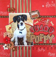 Beware! Cute Guard Puppy - Scrapbook.com