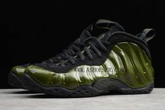 Nike Air Foamposite One Legion Green 314996-301  This Nike Air Foamposite One features a Black upper with an Iridescent finish on the Foam shell. Black continues on the rubber outsole.  SIZE AVAILABLE: (Men)US8=UK7=EUR41 (Men)US8.5=UK7.5=EUR42 (Men)US9=UK8=EUR42.5 (Men)US9.5=UK8.5=EUR43 (Men)US10=UK9=EUR44 (Men)US10.5=UK9.5=EUR44.5 (Men)US11=UK10=EUR45 (Men)US12=UK11=EUR46  Tags: Nike Air Foamposite One Model: AIRFOAMPOSITE-314996-301 5 Units in Stock Manufactured by: NIKEAIRFOAMPOSITE Lebron 16, Nike Lebron, Lebron James, James Shoes, Kobe Shoes, Nike Foamposite, University Blue, Foam Posites, Nike Vapor