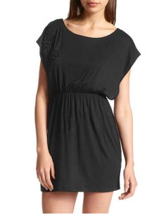 Soutache-Blossom Knit Dress