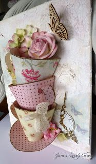 Jane's Lovely Cards : Gold Rimmed Teacups for Sketchy Challenges and PPP!