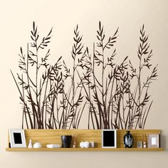 Wild Grass - Set of Two Wall Decal Sticker Graphic