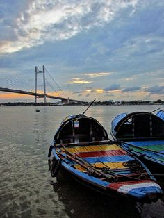 An evening by the river - I have taken this shot at Princep Ghat in Kolkata, July 2016