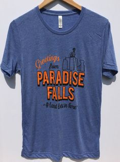The perfect souvenir from Paradise Falls! Our designs are screen printed on UNISEX Bella + Canvas V-neck Triblend Tees. Shirts are **NOT preshrunk**.  Fabrication: 50% poly 25% combed and ring-spun cotton 25% rayon, 40 single 3.8 oz.