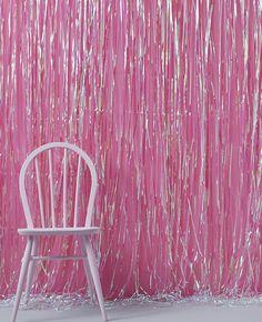 Iridescent Foil Curtain Decoration