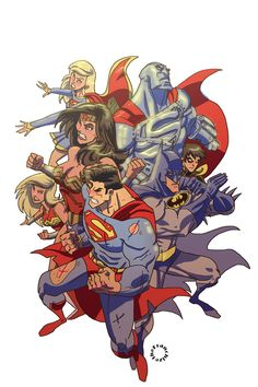 DC Heroes by Jerry Gaylord