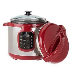 Cooks Essentials Pressure Cooker-QVC  Got mine in Pink!!
