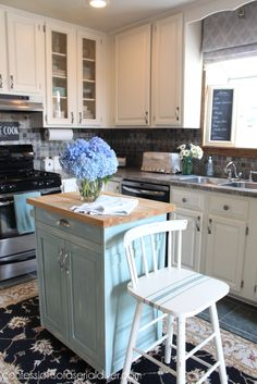 Kitchen Makeover- White Cabinets & replacing panels with glass tutorial