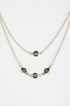 LOVE!!!!! Evil Eye High/Low Necklace