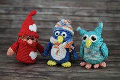 Häkelanleitungen: Ü-Pinguin, Ü-Eule & Ü-Wichtel zum Valentinstag