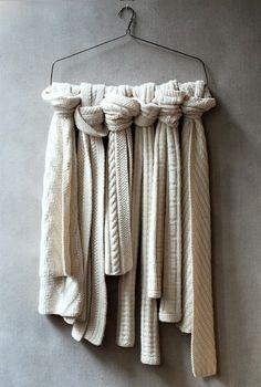 great idea to organize scarfs