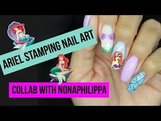 DISNEY'S ARIEL STAMPING NAIL ART TUTORIAL   LITTLE MERMAID COLLAB WITH NONAPHILIPPA - http://www.nailtech6.com/disneys-ariel-stamping-nail-art-tutorial-little-mermaid-collab-with-nonaphilippa/