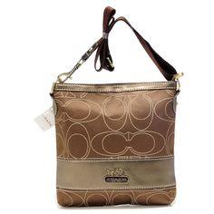 6f0b35294343 Coach Swingpack In Signature Medium Khaki Crossbody Bags AXD Coach Handbags  Outlet