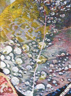 "Jane Freear-Wyld (UK), ""Raindrops,""14.5"" x 11"" woven tapestry, ATB 8"