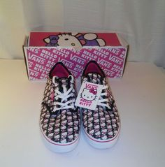 Vans Hello Kitty Atwood Women s Black and Magenta Vans Size 10  VANS   FashionSneakers Magenta 8eeef61b0