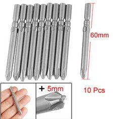 Купить товар5 мм диаметр хвостовика 60 мм длина PH2 филлипс насадок бит 10 шт. в категории Отверткина AliExpress.  Есть 10 шт. отвертки включены, которые изготовлены из хорошего материала металла и с немного магнитные, который не пост