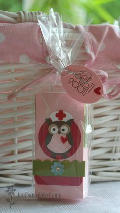 Stampin' Up! Owl Punch Jo Dumbleton Get Well Soon Nurse Owl [I think this is a paper tissue holder] Tarjetas Stampin Up, Stampin Up Cards, Get Well Gifts, Get Well Cards, Scrapbook Cards, Scrapbooking, Scrapbook Albums, Owl Crafts, Paper Crafts