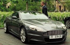 """#8. A publicity still of the Aston Martin DBS V12 (2007-'12), shown with Daniel Craig as James Bond 007 in the 2006 film """"Casino Royale""""; the model was also featured in 2008's """"Quantum Of Solace"""". {Editorial complaint: given that DBS production of ~3400 vehicles far exceeded that of the first-gen Vanquish S, why is it such a pain to find non-PR photos of the later car (incl. customers' cars)... ?}"""