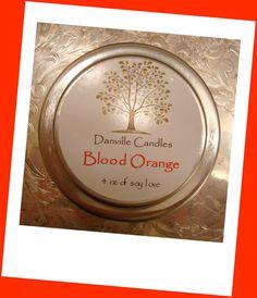 Blood Orange Travel Size Candle  4 ounces by DanvilleCandles, $6.00