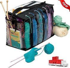6 Skein Knitting Tote Bag Crocheting Organizer Holder Storage Yarn Craft Case