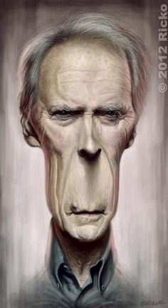 Erick Lebreton Gonin - Caricature de Clint Eastwood