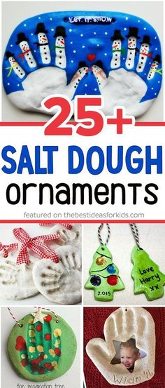 Over 25 of the best salt dough ornament ideas for kids! So many fun ideas including snowman, christmas tree, handprint, fingerprint, olaf and more! Such fun kids craft to make as Christmas gifts! via The Best Ideas for Kids christmas gift ideas to make Diy Christmas Ornaments, Xmas Crafts, Homemade Christmas, Holiday Fun, Christmas Holidays, Kids Craft Christmas Gifts, Christmas Decorations Diy For Kids, Christmas Activities, Christmas Cards