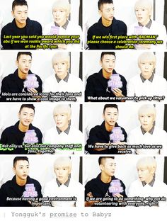 This is why I respect Yongguk <3 BAP's Leader