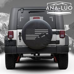 American Flag Tire Cover Jeep Wrangler ANY STATE by Analuo on Etsy